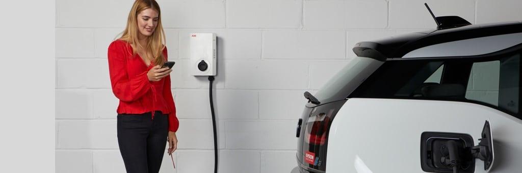 ABB Terra Ac elektromos autó fali töltő applikációs vezérléssel