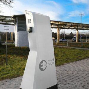Luminancity álló elektromos autó töltőállomás 2x22kw