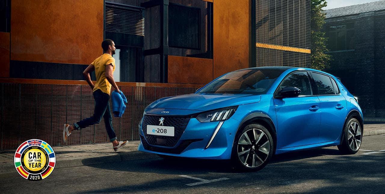 Peugeot 208 az év autója 2020-ban, e-208 a tisztán elektromos